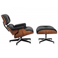 Кресло Eames Lounge Chair otto Black